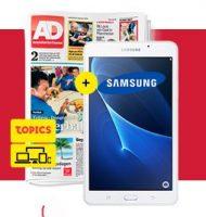 AD actie met gratis tablet t.w.v. €129.-! Nu 1 jaar met 34% korting en kans op een e-bike van Stella.