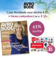 Avrobode abonnement + Gratis HEMA cadeaubon €10!