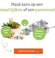 Win Gratis pannenset t.w.v. €139 of een maaltijdbox!