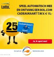 Speel mee met de Lotto Trekking en win de hoogste prijzen! Ontvang Gratis Bol.com cadeaubon t.w.v. €15.-.