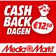 Mediamarkt cashback voordeel €12.50 op €100.-