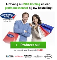 Personal shop | 20% korting en Gratis messenset
