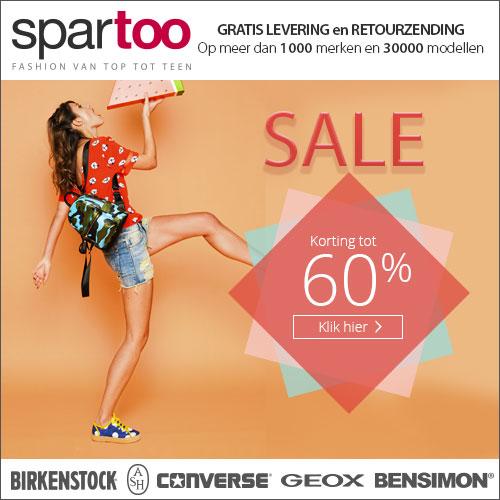 Schoenen Sale bij Spartoo tot 60% korting!