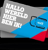 Tele2 prepaid t.w.v €10.- met €20.- beltegoed!