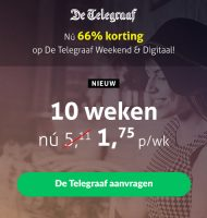 Weekend Telegraaf | Zaterdagkrant nu €1.75 per week!