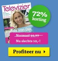 Televizier 72% korting | Wat is er vandaag op Tv?