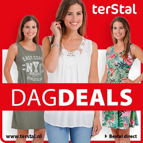 Zomerkorting op dameskleding! DE goedkoopste kleding koop je natuurlijk bij terStal. Online kleding shoppen was nog nooit zo leuk en goedkoop!