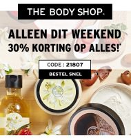 The Body Shop | Dit weekend 30% korting op alles!