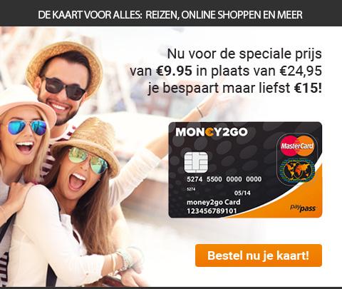 Prepaid MasterCard® bij Money2Go   Bespaar €15.-