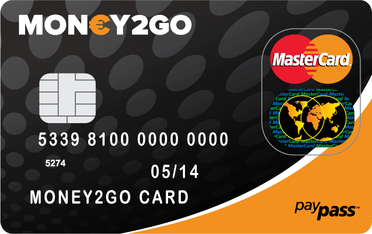 Prepaid MasterCard® bij Money2Go | Bespaar €15.-