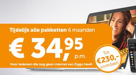 Ziggo alles-in-1   Tot €230 voordeel   €34.95 i.p.v. €54.95