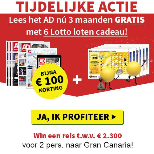 Algemeen Dagblad | 3 maanden gratis + 6 Lotto loten!