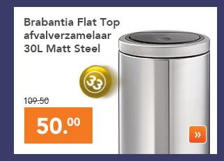 Touch Bin Blokker.Afvalemmer Brabantia Touch Bin Flat Van 109 50 Nu 50
