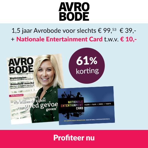 AVRO televisiegids met gratis Entertainment Card t.w.v. 10,-