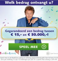 Meespelen in de Bank Giro Loterij en direct kans tot € 30000.-