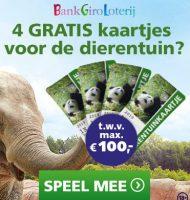 Win in Bankgiro Loterij Gratis dierentuinkaartjes