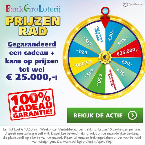 Bankgiroloterij Prijzenrad Met Gegarandeerd Een Geld Bedrag