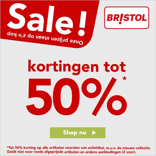 Bristol kortingen tot wel 50% op alles!