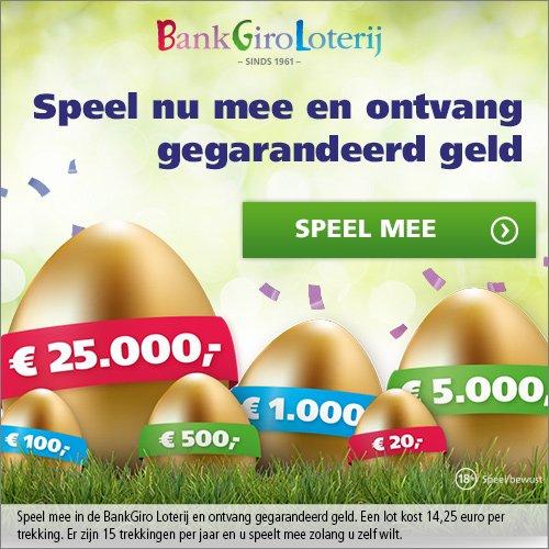 Het Gouden Ei met € 15,- tot € 25000.- voor jouw?