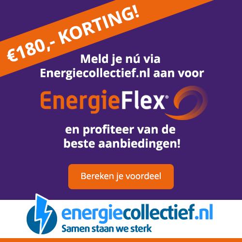 Energiecollectief voor de hoogste cashback! Energiecollectief biedt het aanbod van EnergieFlex aan en momenteel hanteren zij een cashback van € 180,-.