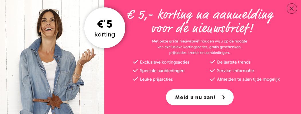 KLiNGEL mode nu met €15,- korting! met de kortingcode Blue!