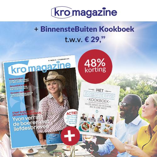 KRO abonnement met gratis kook boek t.w.v. € 29.99