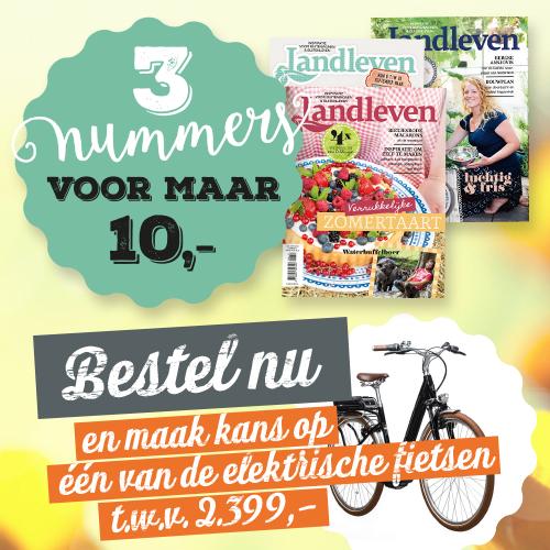Bij een abonnement op Landleven voor €10.- (39% korting) maak je direct kans op deze fiets. Het abonnement stopt vanzelf.