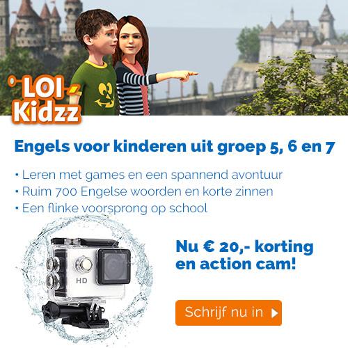 LOI Kids € 20.- Korting op taalcursus + Action cam!