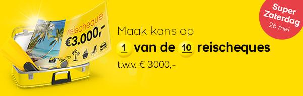 Win een reischeque van € 3000.- en ga automatische meespelen bij de Lotto.Schrijf je gratis in en maak direct kans op het winnen van de mooiste prijzen.