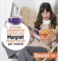 Margriet met gratis Stoomgenerator t.w.v. € 179,-