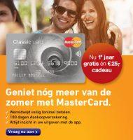 Creditcard nu 1 jaar gratis + €25.- cadeau!