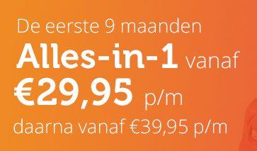 """NLE """"alles-in-1"""" pakket"""". Nu de eerste 3 maanden voor € 29.95 per maand. Inclusief Gratis WIFI versterker. Profiteer ook van het goedkoopste abonnement."""