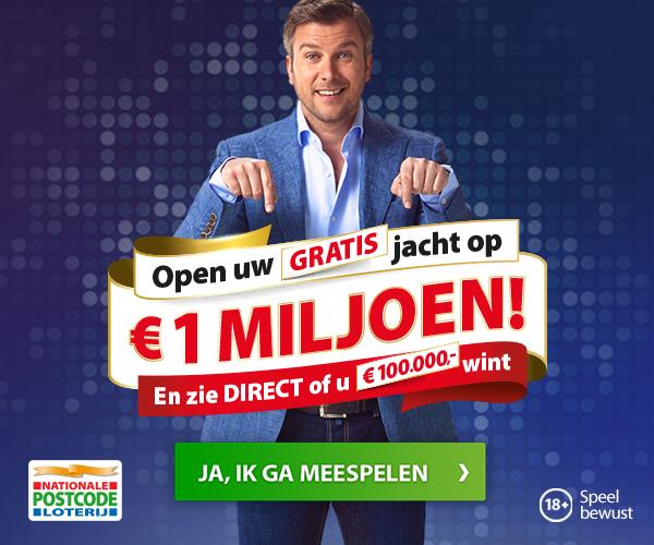 Postcode loterij | Kies de winnende koffer