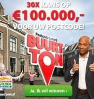 Postcode Loterij   Win Buurt Tonnen van 30x €100.000.-