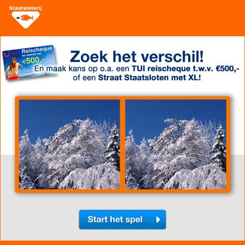 Win een Reischeque van TUI vakanties t.w.v. €500.- zoek de verschillen.