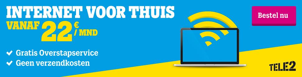 Kies bij Tele2 internet het pakket wat het best bij je past. Vanaf €22.- per maand kun je kiezen uit Light, Basis en Extra.