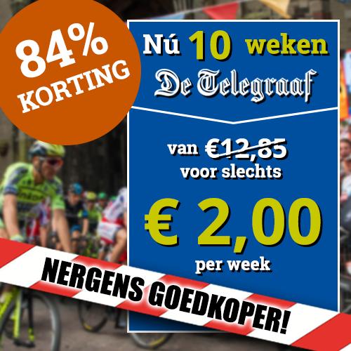 De Telegraaf pakt weer uit deze zomer! Nu met een abonnement van 10 weken voor maar €2.- per week. Blijf deze sportzomer op de hoogte met De Telegraaf!