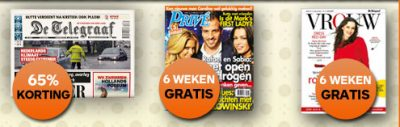 Telegraaf aanbieding | 6 weken gratis Privé+Vrouw magazine