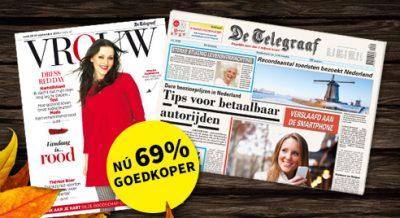 De Telegraaf met Gratis een Privé abonnement!