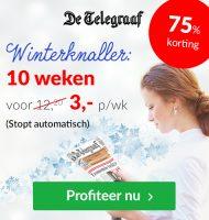 De Telegraaf voor €3.- per week + 75% korting!