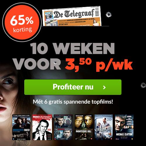 10 weken Telegraaf met Gratis dvd box t.w.v €45,-