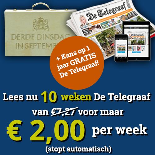 Een proefabonnement Telegraaf!Nu 10 wekenvoor € 2.- per week plus Gratis digitale toegang en het mooie magazine Vrouw.