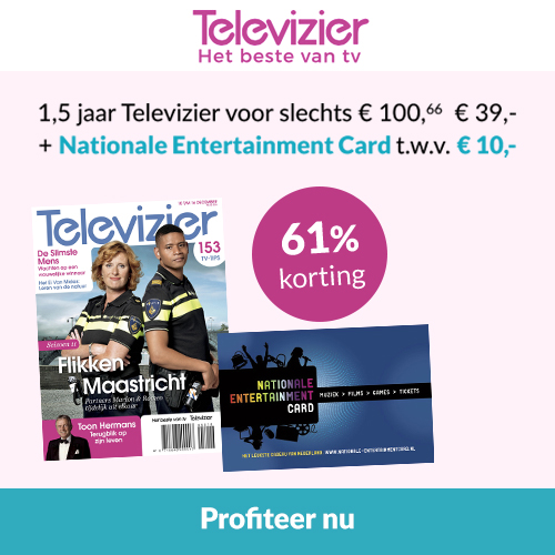 Televizier tijdschrift + Nationale Entertainment Card t.w.v. 10,-