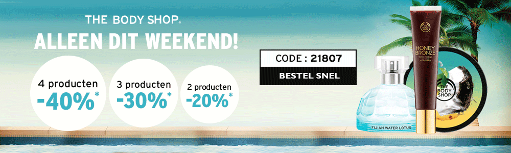 BodyShop | Tot 40% korting bij The Body Shop!