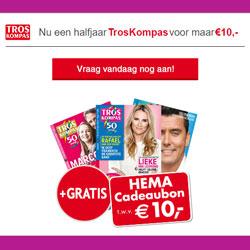 HEMA cadeaukaart van € 10,- bij Troskompas gids!
