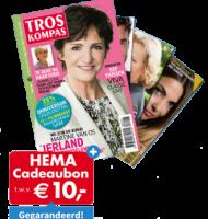 HEMA cadeaukaart van € 10,- bij TrosKompas gids