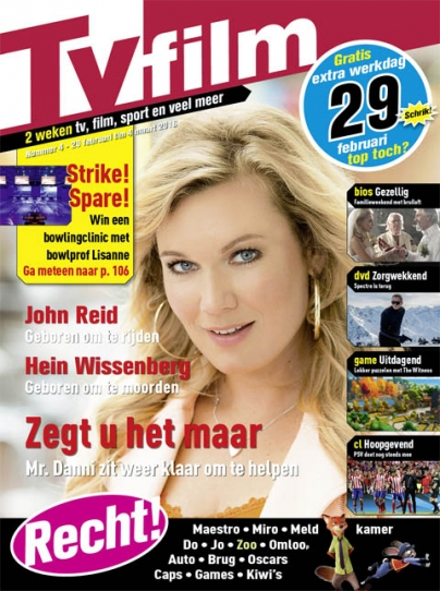 1 jaar Tv film magazine voor €15.- 62% korting!