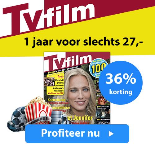 Tv Film 1 jaar voor € 27.- dat is 36% korting!Alles over Tv en film in een overzicht met een scherpe prijs door deze hoge korting.