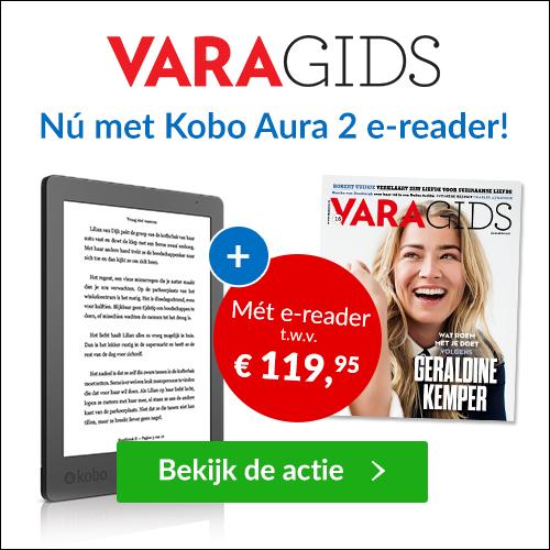 Ontvang nu de VARA gids 1 jaar lang en ontvang er een gratis e-reader Kobo Aura t.w.v. €119,95 ( winkel prijs ) bij. Je betaald voor de totale deal maar €89.95.