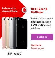 Vodafone | € 299,- korting op de nieuwe iPhone 7!